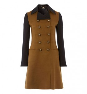 Classic Androgynous Coat with Contrasting Sleeves (Hobbs)