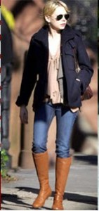 Knee Length Boot with Skinny Jeans