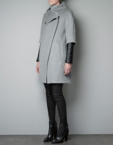 Classic Coat with a Twist - 3/4 Faux Sleeve (Zara)